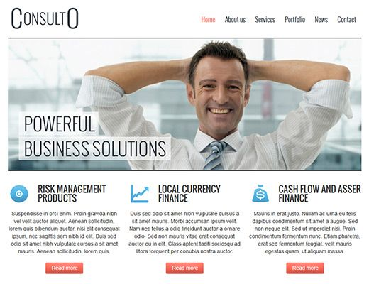 Template 001: Consulto Great professional web template  #webdesign #template #website #business #freetemplates