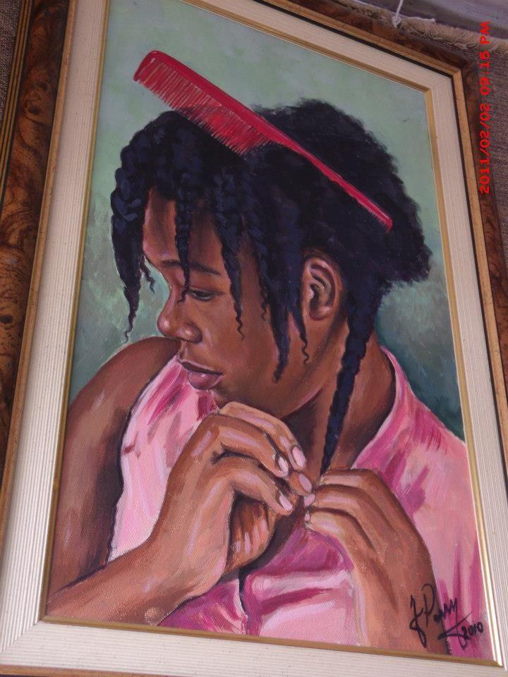 Natural Hair Painting #Jamaican #Art