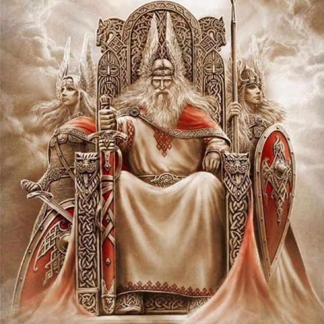 VALHALLA - this is ODIN on his thrown in VALHALLA in the kingdom of ASGARD.
