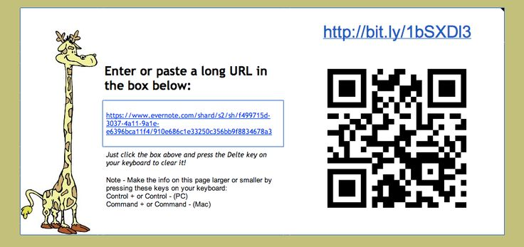Shorten a URL and generate a QR code at the same time! (Requires Google account.)