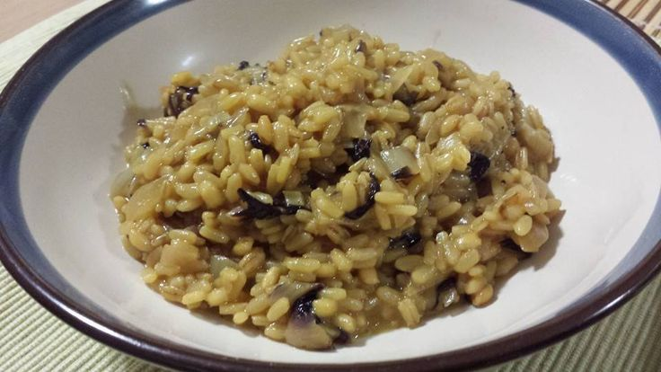 mix of cereals (rice, barley, oats) with Treviso's radicchio and saffron