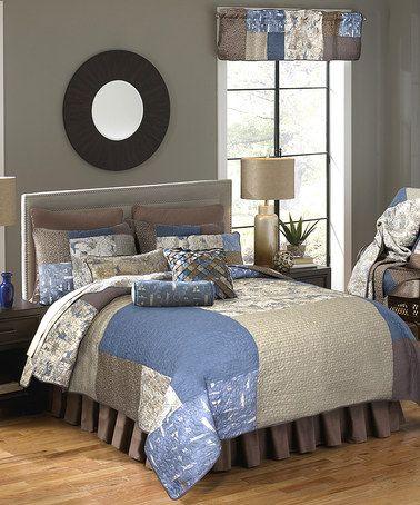 Loving this Blue Nautical Bedding Set on #zulily! #zulilyfinds