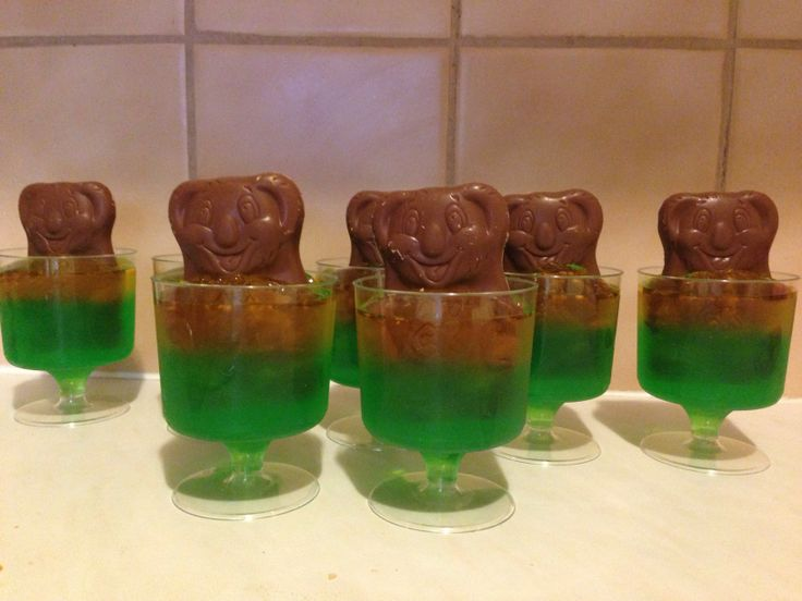 Green & gold koala jellies!