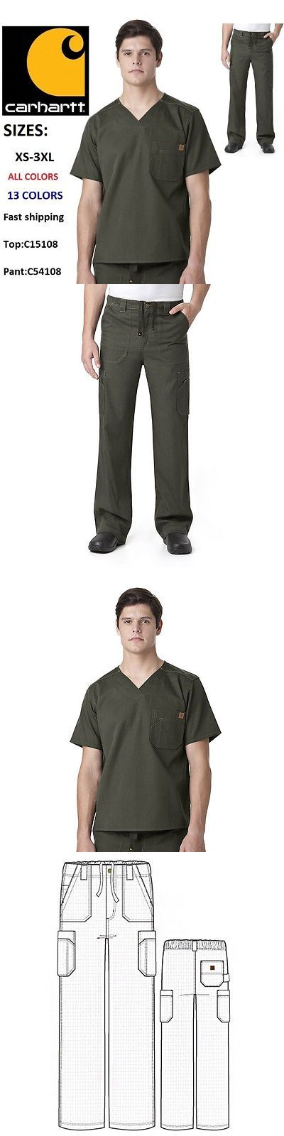 Sets 105432: Carhartt Men S Scrubs Set (C54108a Ripstop Multi-Cargo Pant C15108a V-Neck Top) -> BUY IT NOW ONLY: $49.96 on eBay!