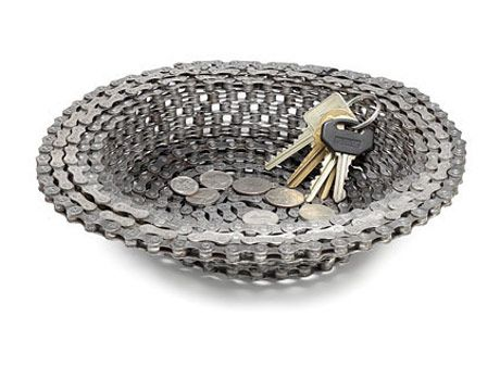 Recycled Bike Chain This Recycled Bike Chain Bowl Is Perfect For Your Home Decor If You Are Looking For Anything To Hold Your Accessories In Your Front