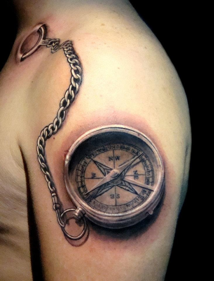You see, believe it or not; I'm hard to please when it comes to compass tattoos, but this is amazing.