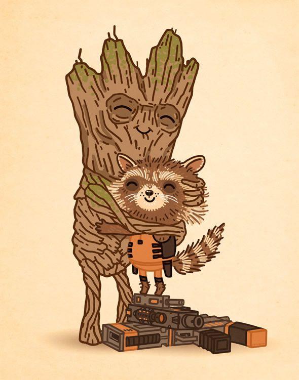 Guardioes da Galaxia Mondo Comic Con 2014 poster Groot Rocket