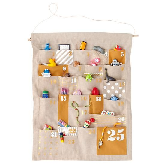 A place for everything and everything in its place. That's what makes this calendar so unique. Pockets of different shapes and sizes make the perfect fit for a special treat each day.