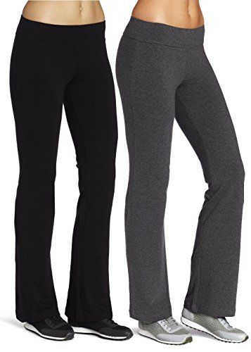 Mirity BootLeg Yoga Pants  Active Leggings Pant for Women Color Black Grey Pack Of 2 Size L *** Click image for more details.