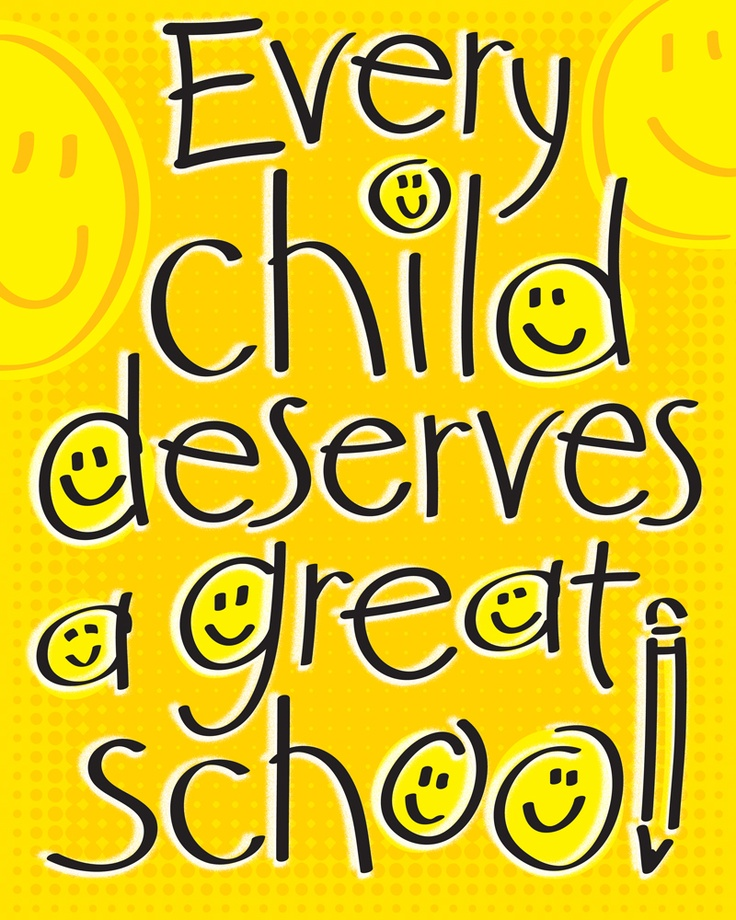 Every Child Deserves a Great School and every teacher will want this poster on their classroom wall. Design by Democrat Brand