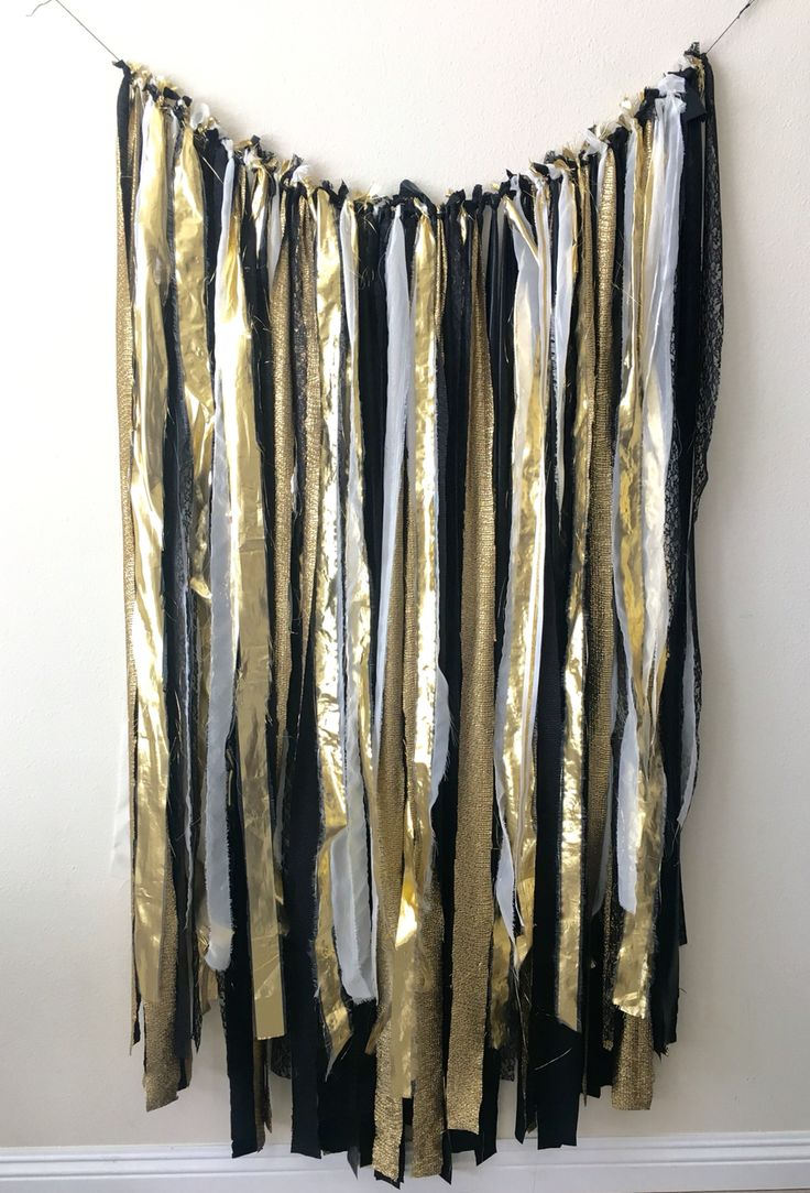 Black and gold hanging