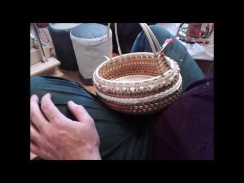 плетение овальной корзиночки часть 3
