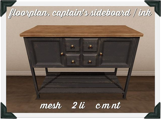 floorplan. captain's sideboard / ink | Flickr - Photo Sharing!