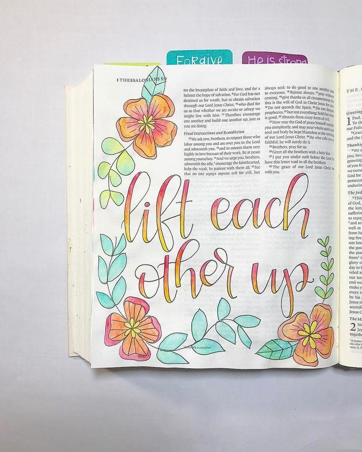 Bible Journaling by @nickicreates
