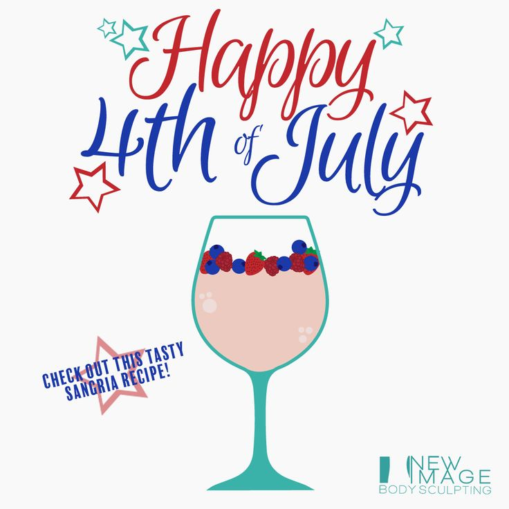 Have a happy, safe and #healthy Fourth of July everyone! (american flag emoji) Keep it classy and low cal with this Red, White, and Blue Sangria recipe from @healthmagazine   Ingredients: 3 750 ml bottles of Barefoot Pinot Grigio 1 2L bottle of grapefruit soda, such as Fresca 1 2L bottle of seltzer 1 3-pound bag of frozen mixed berries