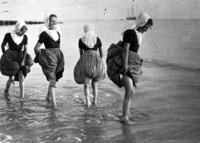 Pootje baden, strand Westkapelle