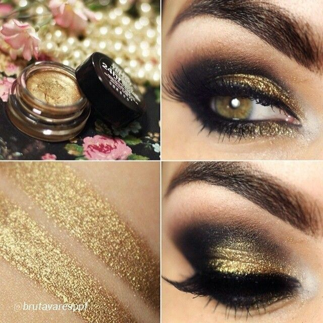 Gorgeous gold smokey eye by bruna tavares using for Color tattoo maybelline