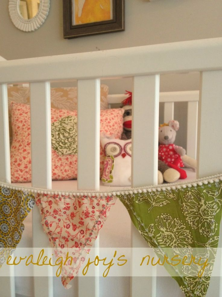 Love the vintage feel of this nursery its a little busy for Retro nursery fabric