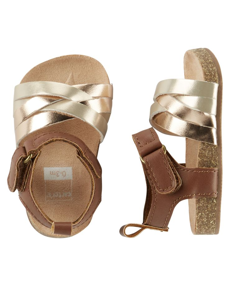 Baby Girl Carter's Sandal Crib Shoes | Carters.com