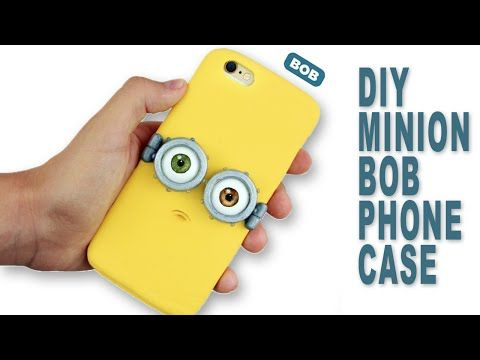 DIY Fimo iPhone Case| Minion Bob Phone Case Tutorial - Polymer Clay How-to - YouTube