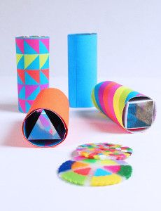Homemade toys are a perfect way to entertain your kids without having to spend a lot of money. Your little ones can learn How to Make a Kaleidoscope in just under 30 minutes! | AllFreeKidsCrafts.com