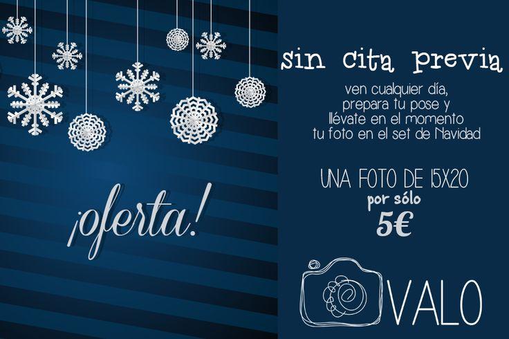 Si ya te has gastado todo el presupuesto que tenías para Papá Noel, esta #OFERTA es para ti. Un día cualquiera te pasas por el estudio y te llevas, en el momento, UNA FOTO NAVIDEÑA POR SÓLO 5€. Sólo un billetito de los pequeños! Comparte, por favor, si sabes de alguien a quien pueda interesar ;) #oferta #fotos #Navidad #sesión