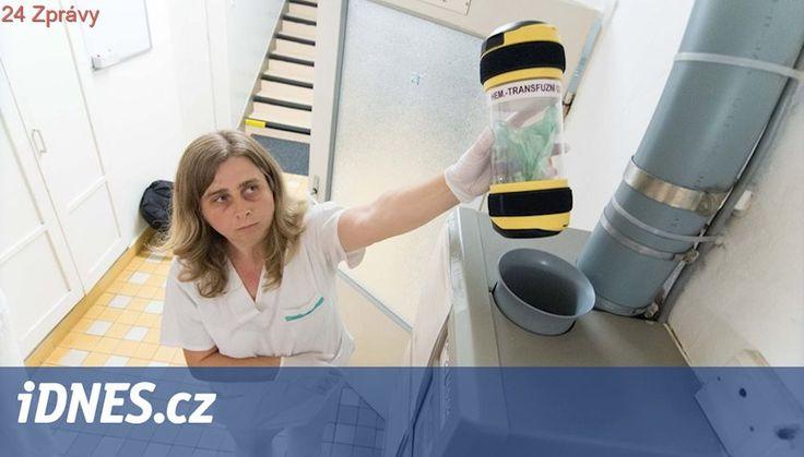 VIDEO: Zkumavka, kapsle, potrubí. Zlínskou nemocnicí vede zvláštní pošta