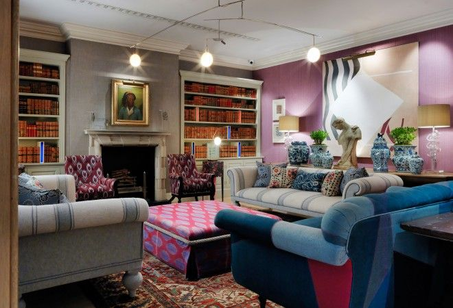 Haymarket Hotel - London, United Kingdom. Located just off London's Piccadilly Circus, hotels don't come any more central than the Haymarket Hotel, the most flamboyant, ambitious and daring Firmdale hotel.