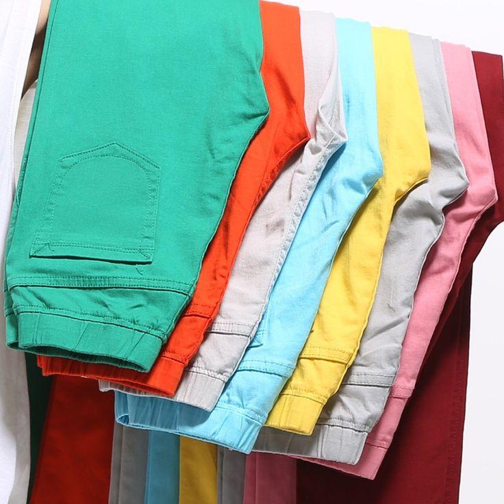 2016 Осенние высокой талией джинсы женщины Повседневные Конфеты Цвет Плюс Размер Карандаш Брюки Узкие брюки Брюки джинсы для Женщин 6XL