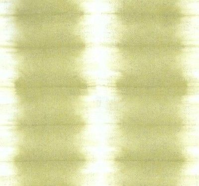 Savine (P615/09) - Designers Guild Wallpapers - A tie dye effect, striped vinyl wallpaper, shown here in soft acacia green and off white. Please request a sample for a true colour match. Wide width wallcovering. Pattern repeat 64cm.