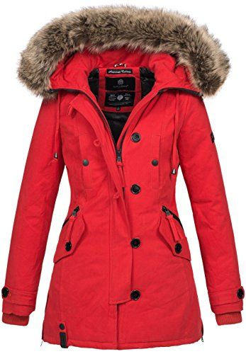 Navahoo Damen Designer Winter Jacke warme Winterjacke Parka Mantel B638 96eb61ec1c