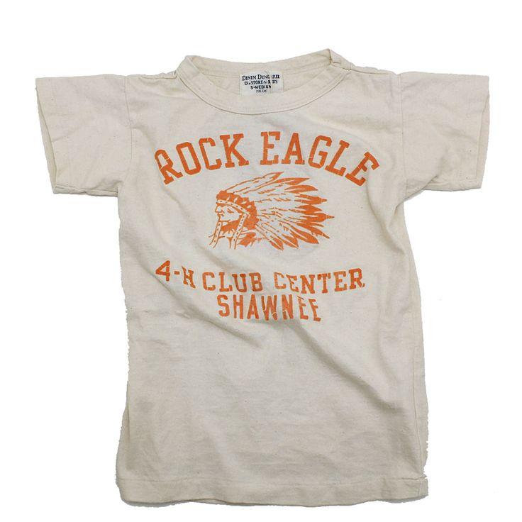 DENIM DUNGAREE(デニム&ダンガリー):ビンテージテンジクROCK EAGLE Tシャツ 16BEベージュ の通販【ブランド子供服のミリバール】