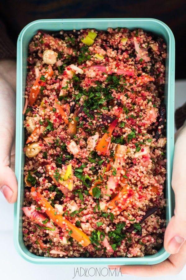 jadłonomia · roślinne przepisy: Zimowa sałatka z komosą ryżową