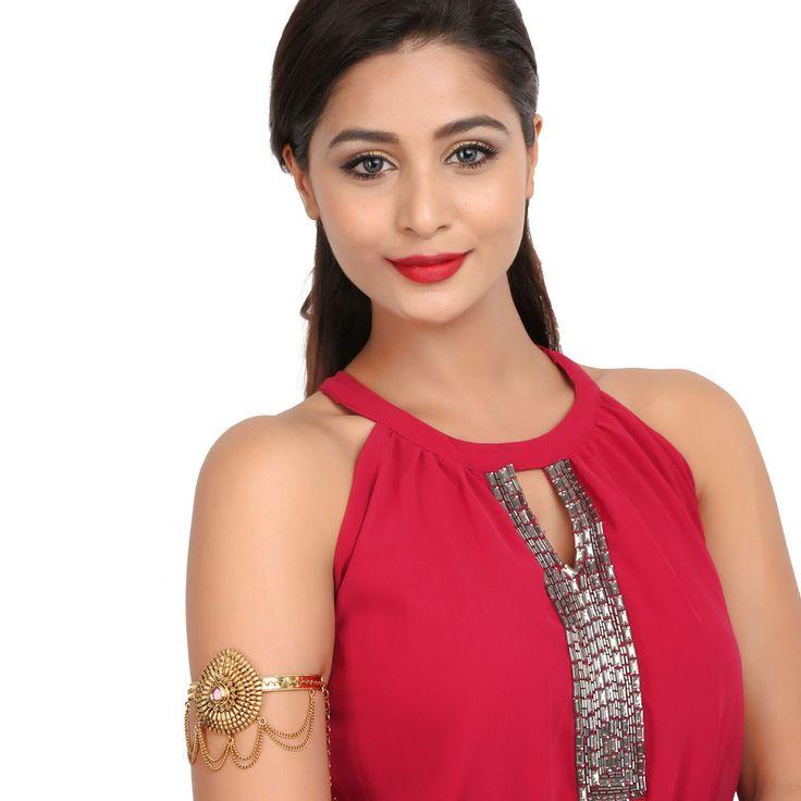 Antique BajuBand 57068R #Kushals #Jewellery #Fashion #Indian #Jewellery #Wedding #Accessories #BajuBand #Antique #Festive