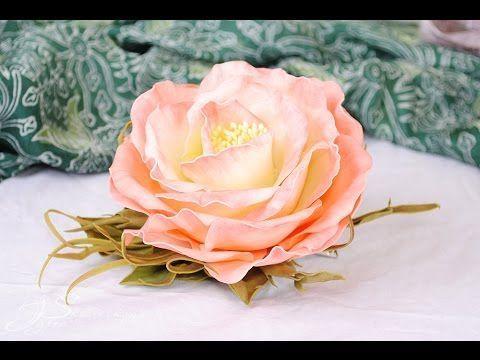 Цветок из фоамирана - YouTube