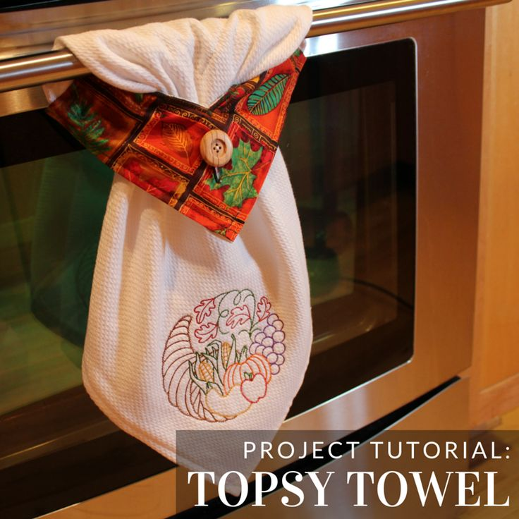 Create a kitchen essential with this towel tutorial from - Free embroidery designs for kitchen towels ...