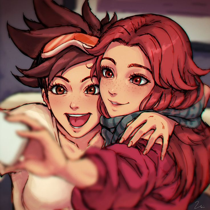 Overwatch - Tracer and Girlfriend - More at https://pinterest.com/supergirlsart