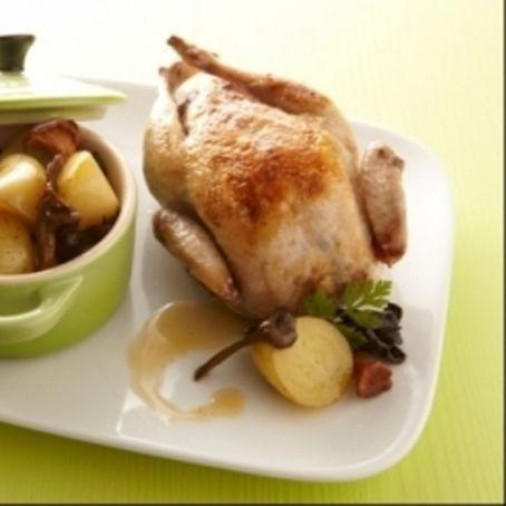 Codorniz rellena de foie gras e higos http://www.rebanando.com/receta-58109-codorniz-rellena-de-foie-gras-e-higos.htm