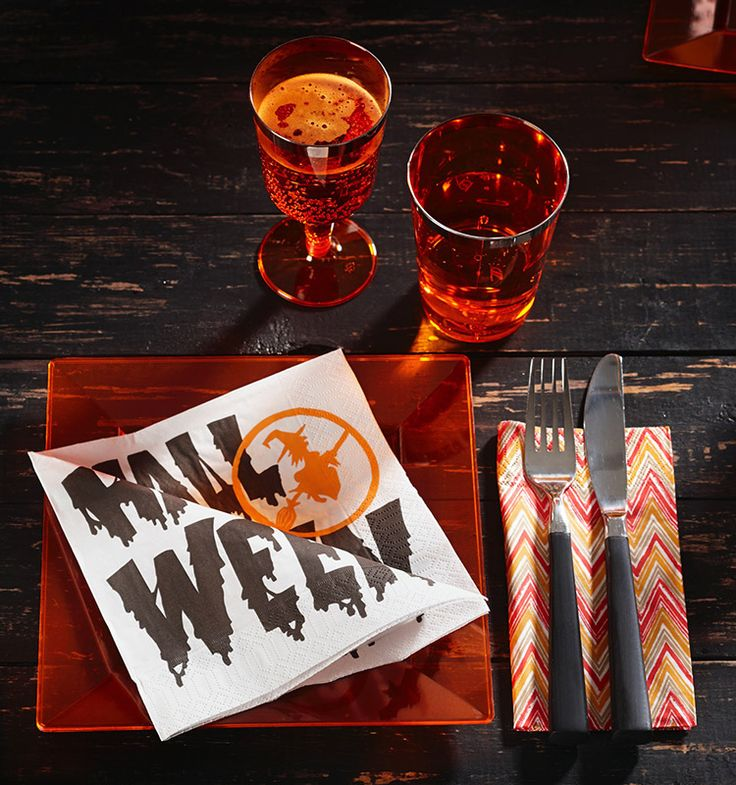 scary halloween!  Set the tone with duni napkins