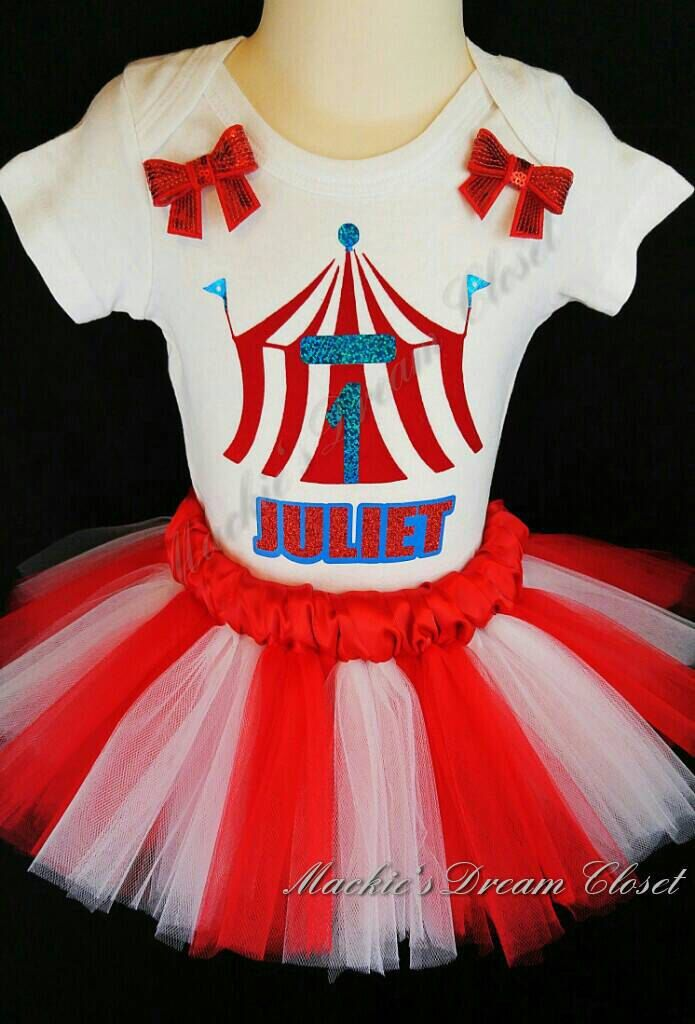 Carnival tent circus birthday tutu set two piece shirt skirt red white personalized name number glitter heat transfer vinyl satin waist girl by MackiesDreamCloset on Etsy https://www.etsy.com/listing/476674299/carnival-tent-circus-birthday-tutu-set