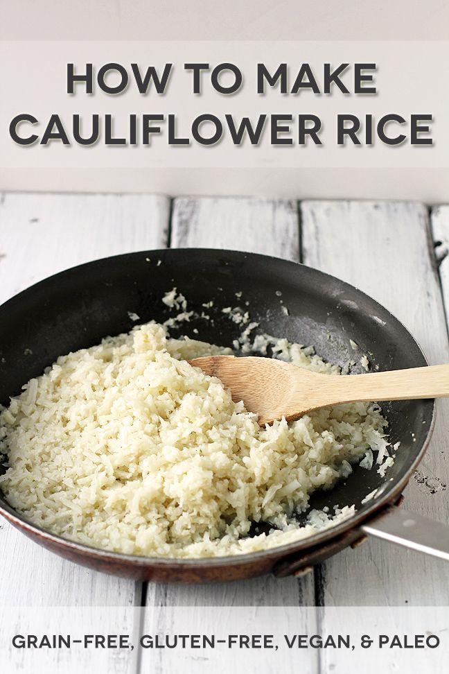 How to Make Grain-Free Cauliflower Rice (gluten-free, paleo, #vegan) #side #recipe