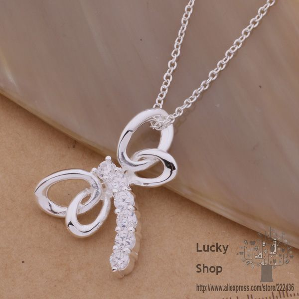 AN113 925 sterling silver Necklace 925 silver fashion jewelry pendant dragonfly /ajrajaya douamgba