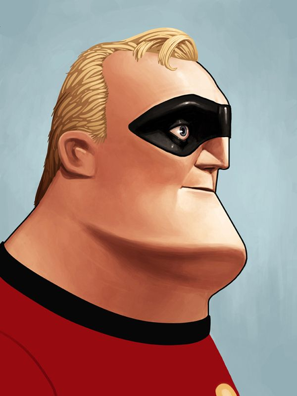 Mr. Incredible Portrait | 25 Beautifully Reimagined Disney Posters That Capture The Magic Of The Films