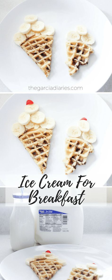 Ice Cream For Breakfast - Easy Food Art For Breakfast - Kids