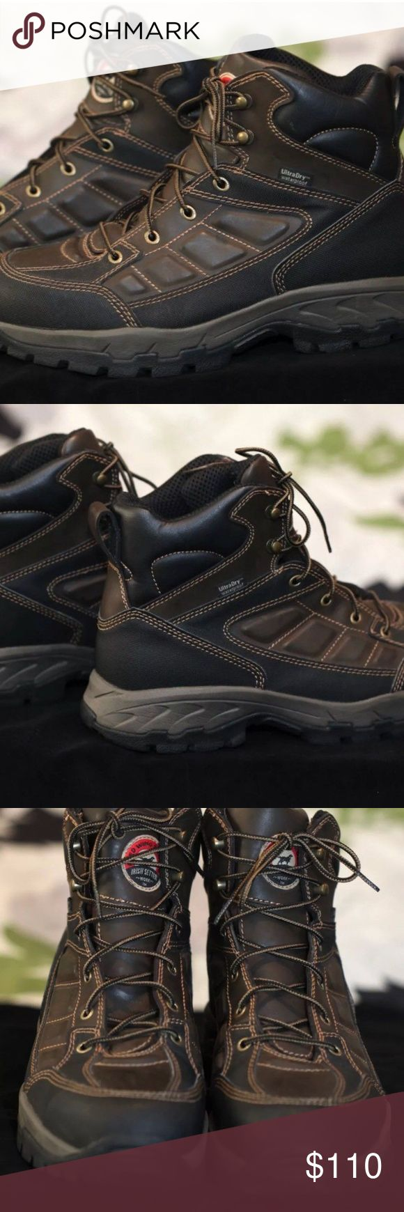 Red Wing Boots Irish Setter Wo rk Hiking 10.5 Red Wing Boots Irish Setter Work Hiking UltraDry Waterproof Ely 83400 Mens 10.5 Red Wing Shoes Shoes Boots #hikingboots #hikeboots