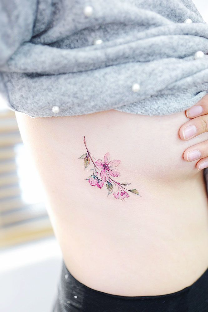 Tender Selection Of Cherry Blossom Tattoo For Your Inspiration Cherry Tattoos Blossom Tattoo Flower Tattoo Shoulder