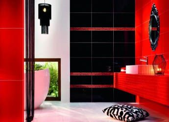 black red bathroom tile wwwplitkapremiumru pelta pinterest bathroom tiling master bathrooms and interiors - Bathroom Designs Black And Red