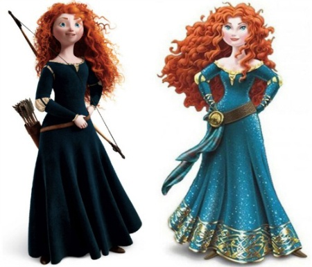 Disneys makeover of Merida, the bold and unique princess from BRAVE sends the wrong message to little girls.