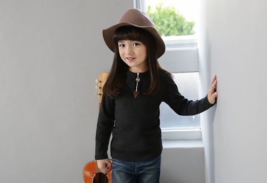 Korea children's No.1 Shopping Mall. EASY & LOVELY STYLE [COOKIE HOUSE] Triangle Zipper T-shirt / Size : 5-9 / Price : 8.65 USD #cute #koreakids #kids #kidsfashion #adorable #COOKIEHOUSE #OOTD #top #T #TEE #Tshirts #dailylook #basic #simple #dailyfashion