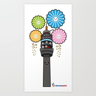 Torre Entel Art Print by KawaiiVictim! - $24.96